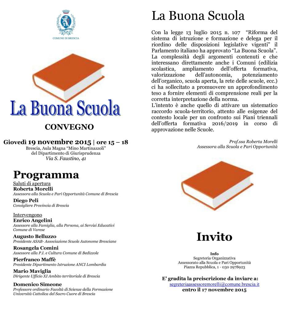 Brochure La Buona Scuola  19-11-2015